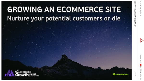 Growing an ecommerce site